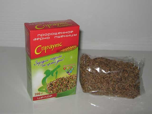 Зерно пшеницы пророщенное целое фасованное (0,2 кг)